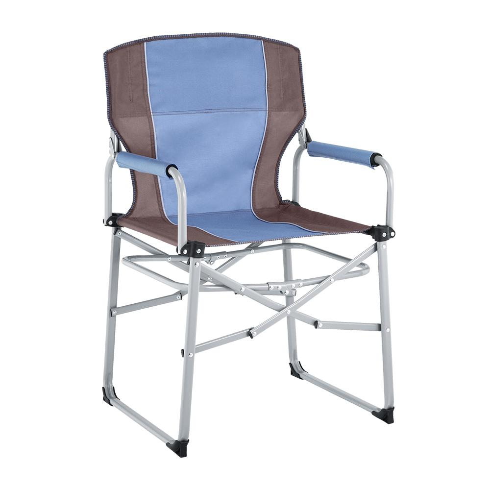 Portable metal director chair
