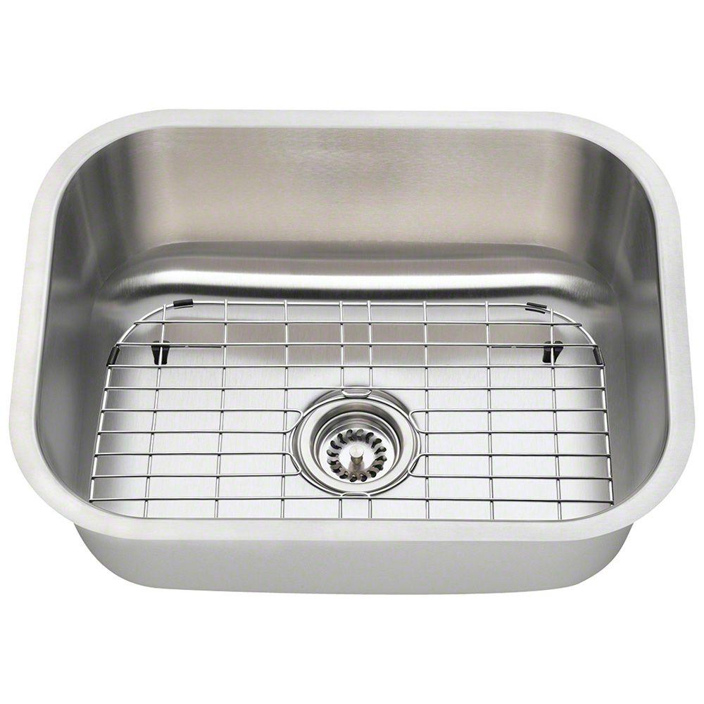 All in One Undermount Stainless Steel 23 in Single