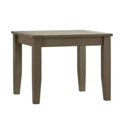 Verdon Gorge Gray Rectangle Oiled Wood Outdoor End Table