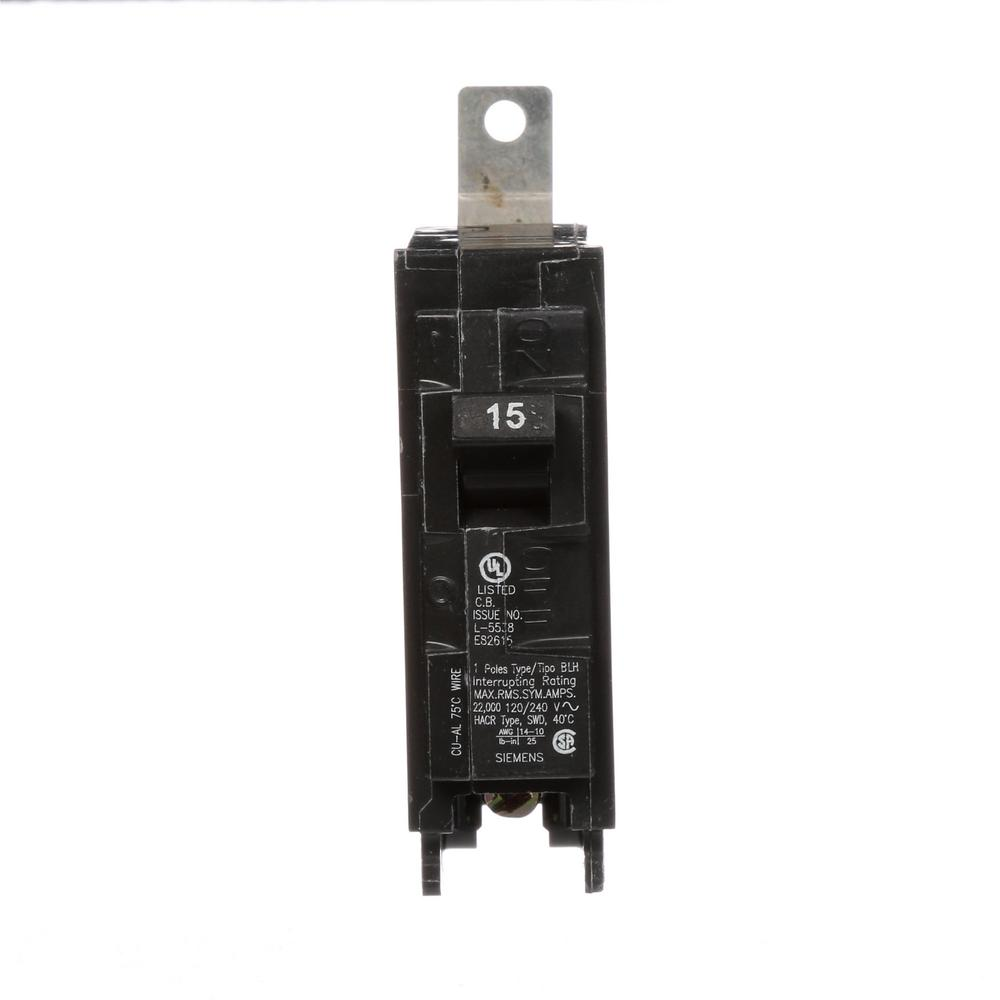 15 Amp Singlepole Arc Fault Circuit Breakerq115afp The Home Depot