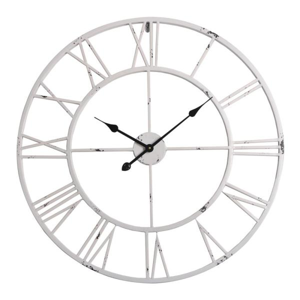 Utopia Alley Utopia Alley Oversized Roman Round Wall Clock White
