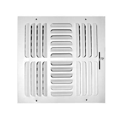 14 in. x 14 in. 4-Way Fixed Curved Blade Wall/Ceiling Register