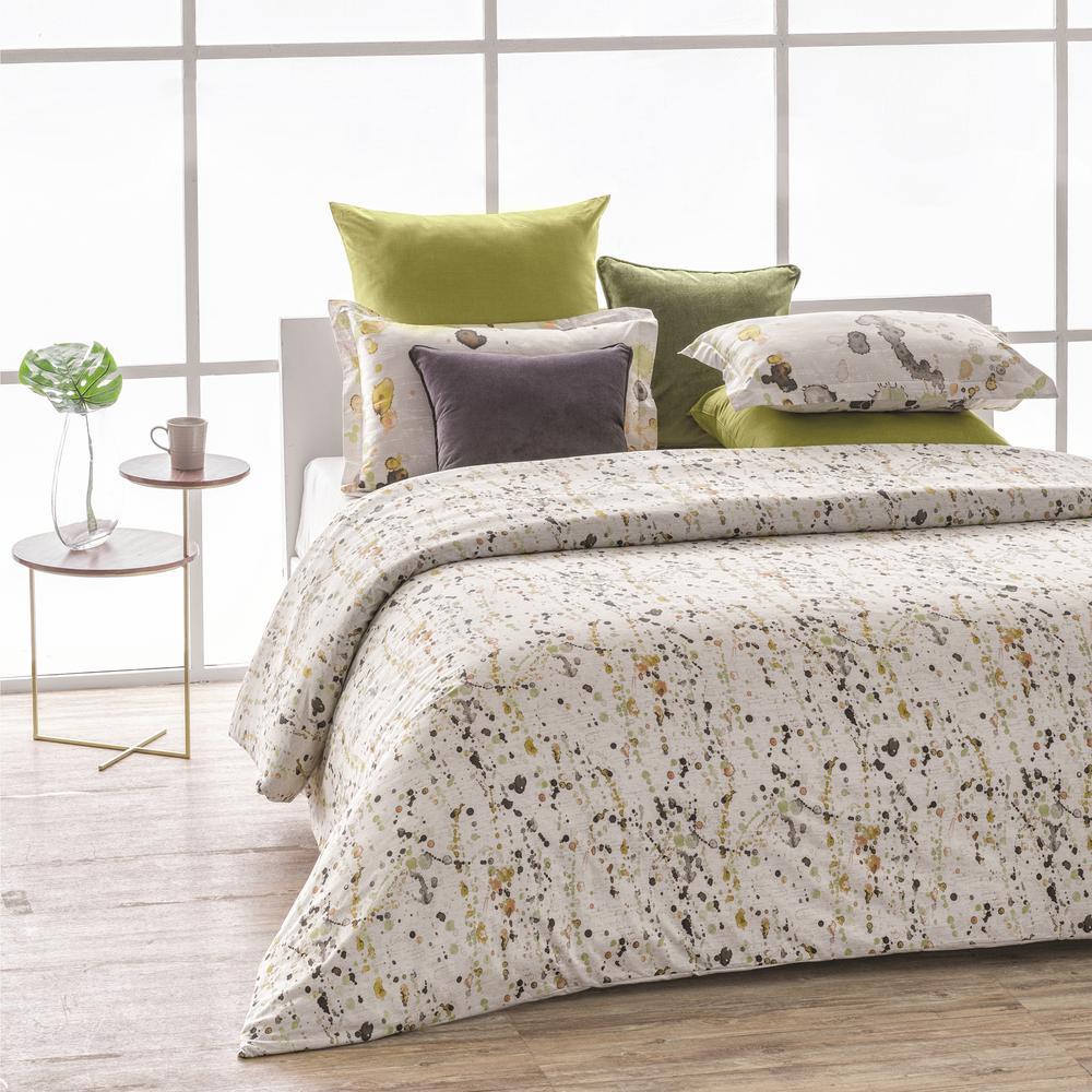 Citronelle Wrinkle Resistant Reversible Print 100% Organic Cotton Multi-Color King Duvet Cover Set