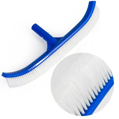 18 in. W Curved Pool Wall Brush with PVC Back