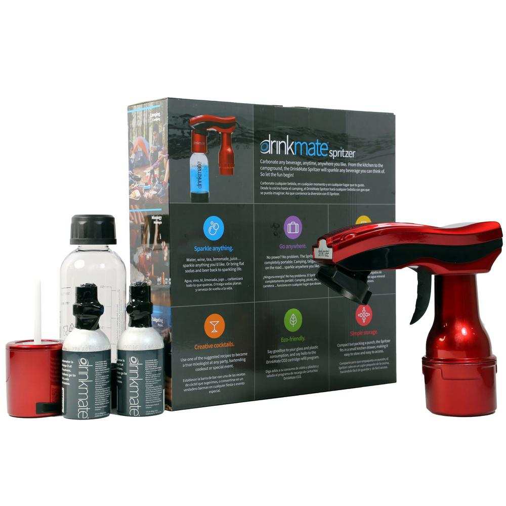 Portable Carbonation Machine in Metallic Red