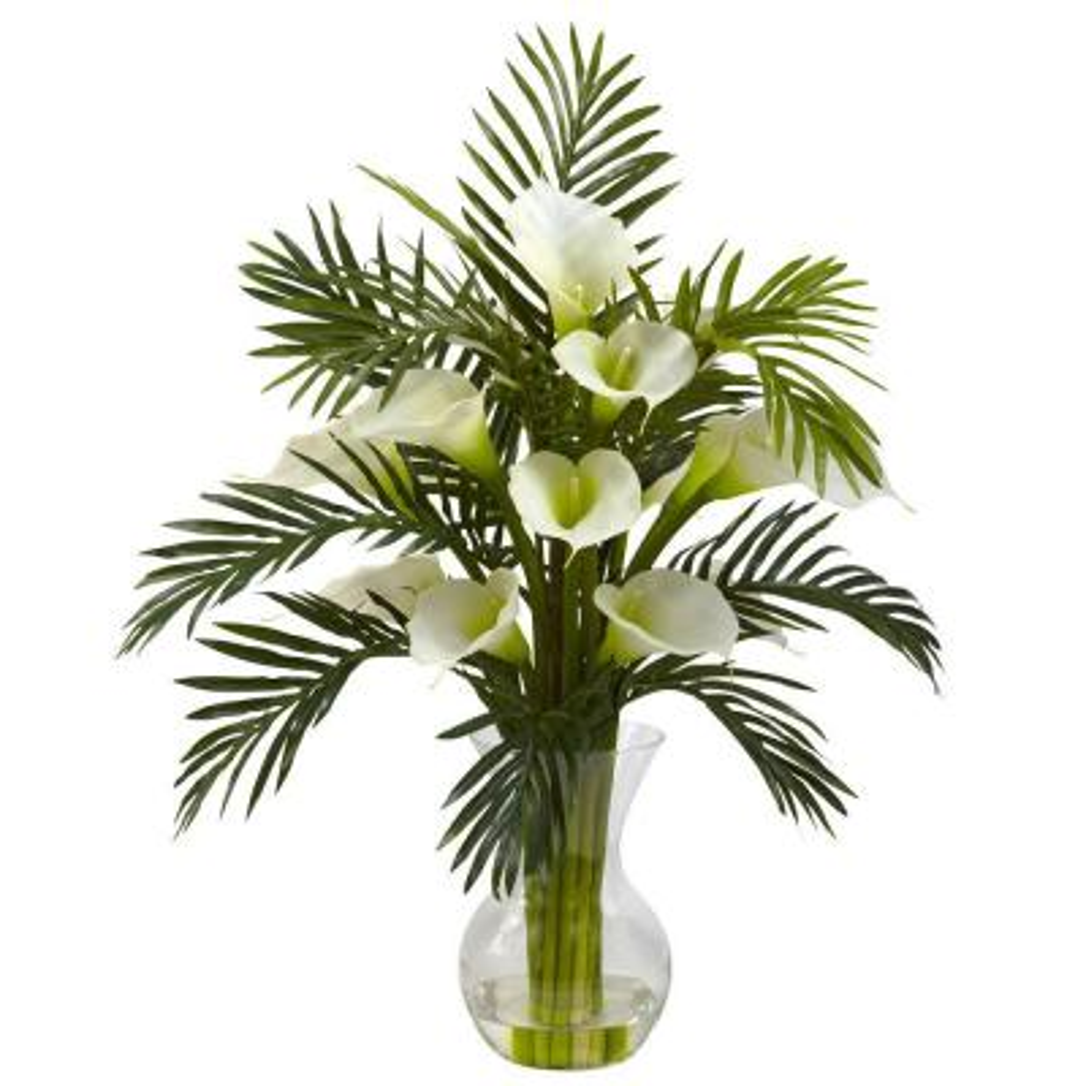 Calla Lily and Palm Combo in Cream