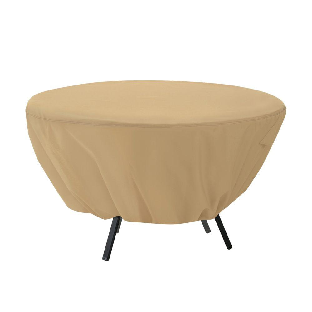Terrazzo Round Patio Table Cover. Table   Patio Furniture Covers   Patio Accessories   The Home Depot