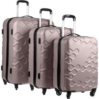 Harrana Ivory Gold 3-Piece Spinner Luggage Set