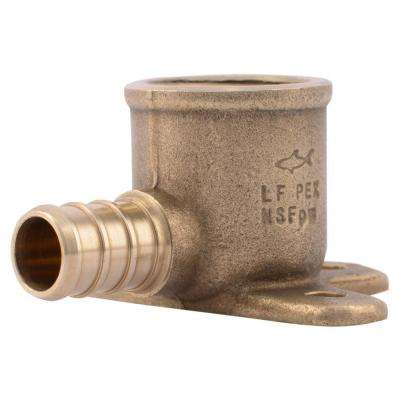 1/2 in. Brass PEX Barb x 1/2 in. Female Pipe Thread Adapter 90-Degree Drop-Ear Elbow