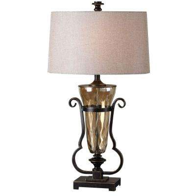 33 in. Light Amber Clear Table Lamp