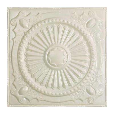 Toronto 2 ft. x 2 ft. Nail-up Tin Ceiling Tile in Antique White