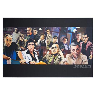 Licensed The Bad Guys Mafia Collage Wrapped Canvas Wall Art