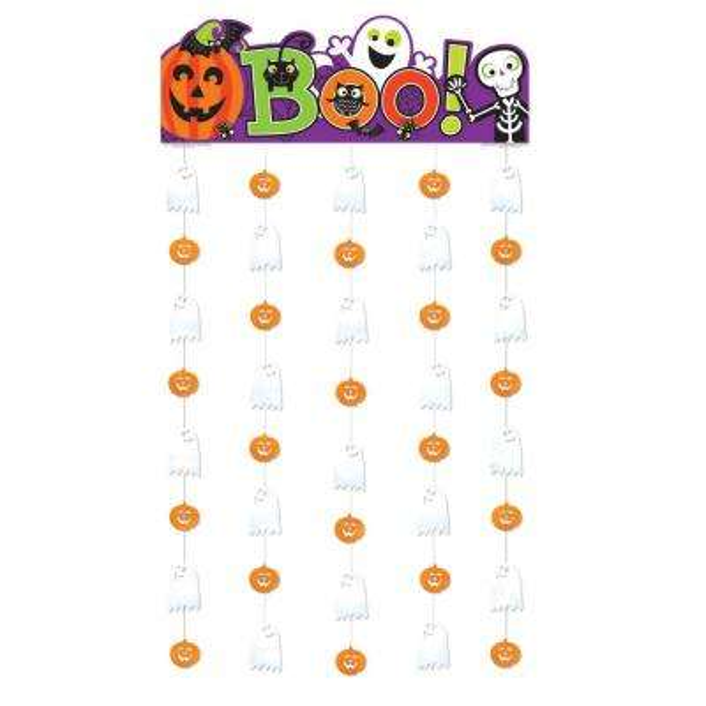 77 in. Halloween Family Friendly Doorway Curtain (2-Pack)