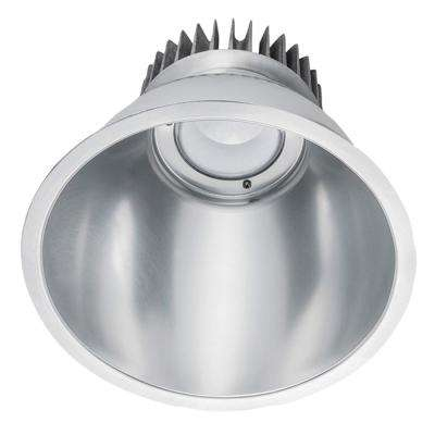 40-Watt 8 in. Silver Remodel Recessed Integrated LED Dimmable Downlight Kit 120-277V Warm White 2700K with Backup 99843