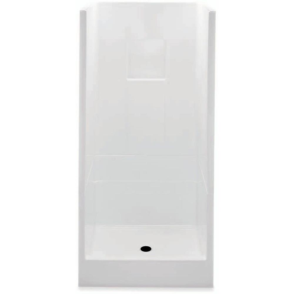 Aquatic Remodeline Smooth Wall 32 in. x 32 in. x 72 3/4 in. 2 ...
