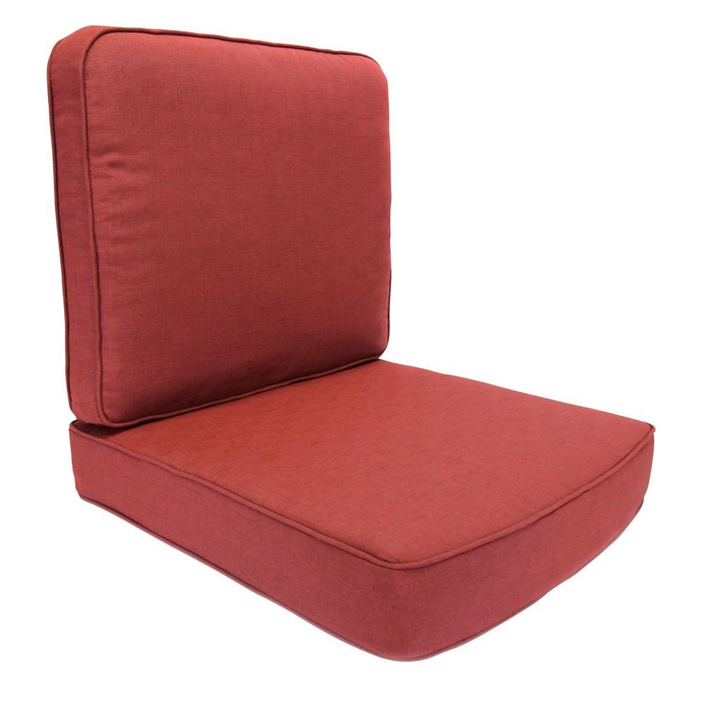 Hampton Bay Fall River Chili Replacement Outdoor Motion Lounge Chair Cushion