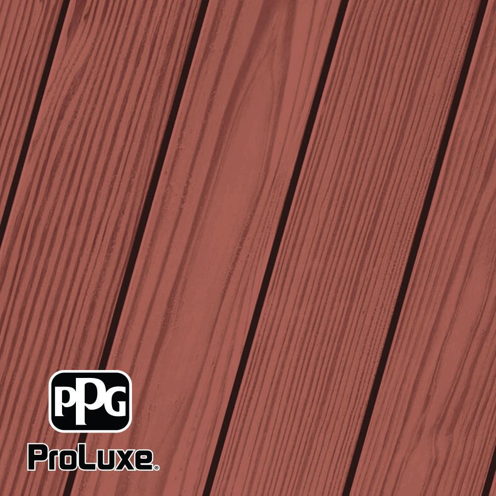 PPG ProLuxe 5 gal. #HDG-ST-247 Natural Redwood SRD Exterior Semi-Transparent Matte Wood Finish
