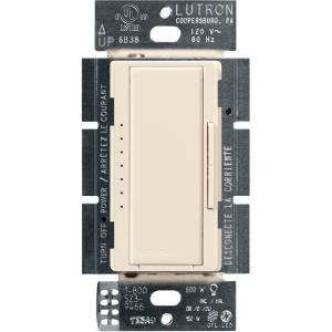 Maestro LED+ Dimmer Switch for Dimmable LED, Halogen and Incandescent Bulbs, Single-Pole or Multi-Location, Light Almond