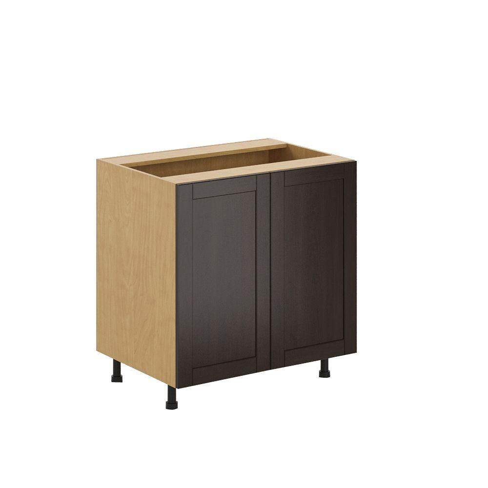 fabritec ready to assemble in barcelona full height base cabinet in maple melamine. Black Bedroom Furniture Sets. Home Design Ideas