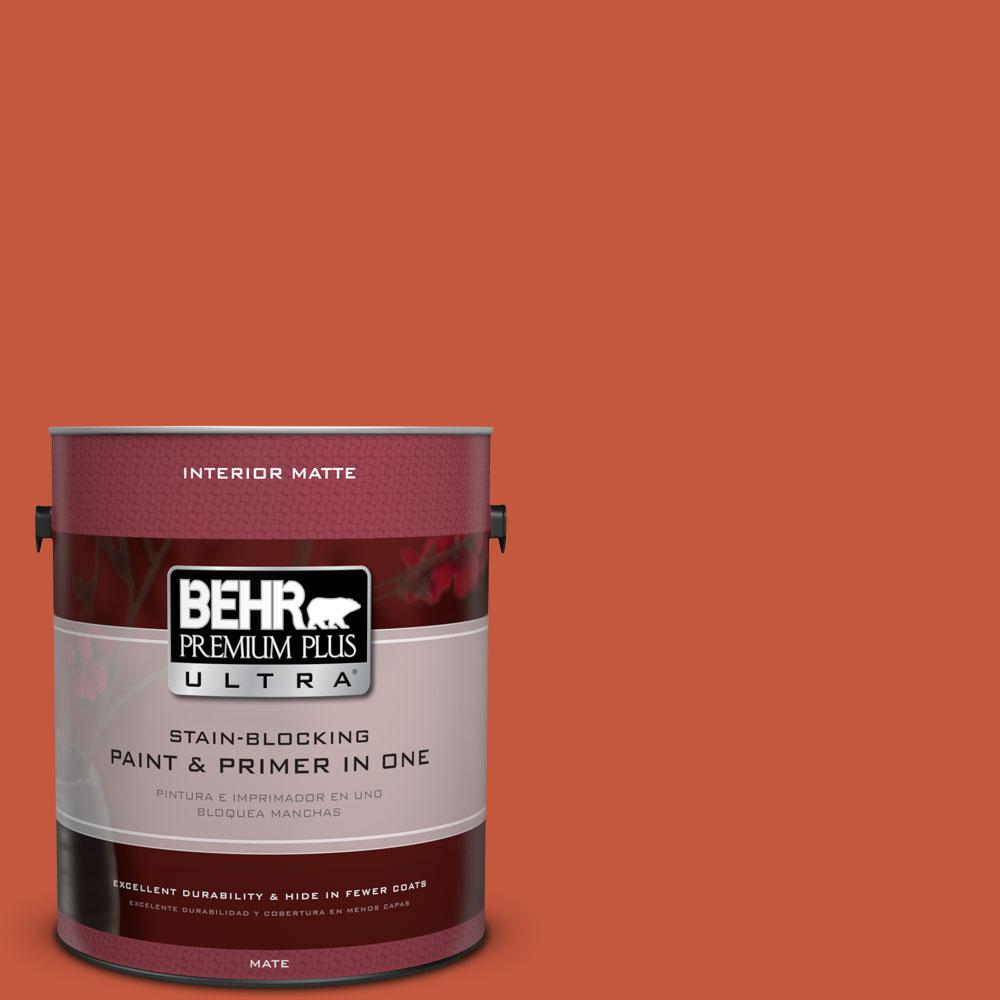 1 gal. #BIC-31 Fire Coral Matte Interior Paint