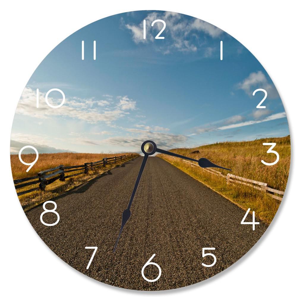 """""""Open Desert Road"""" by Tim Hiebert Wall Clock"""