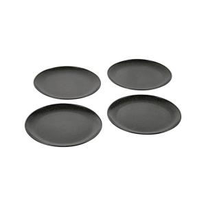 EVO Sustainable Goods 8 in. Black Eco-Friendly Wood-Plastic Composite Plate (Set of 4)