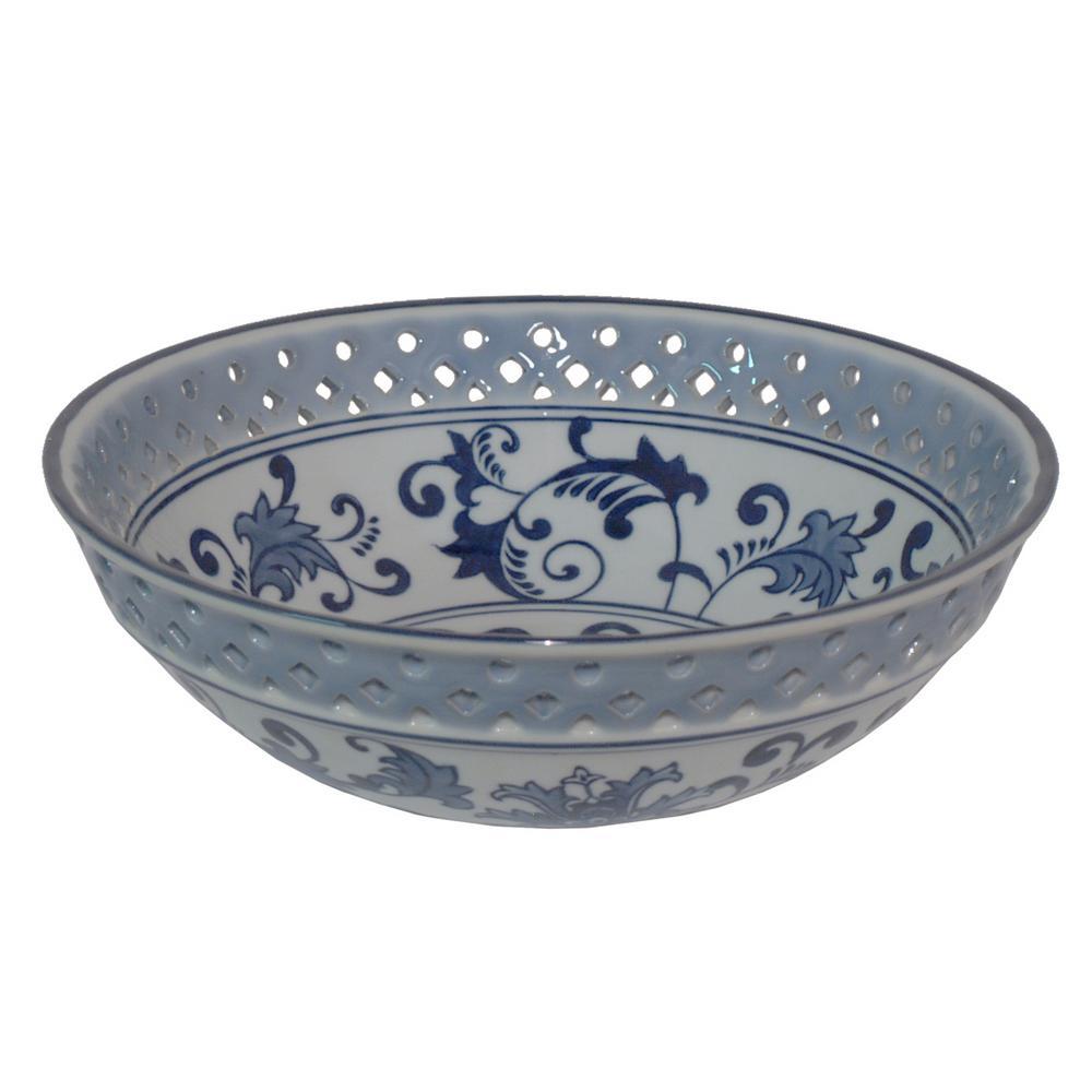 Blue And White Ceramic Bowl