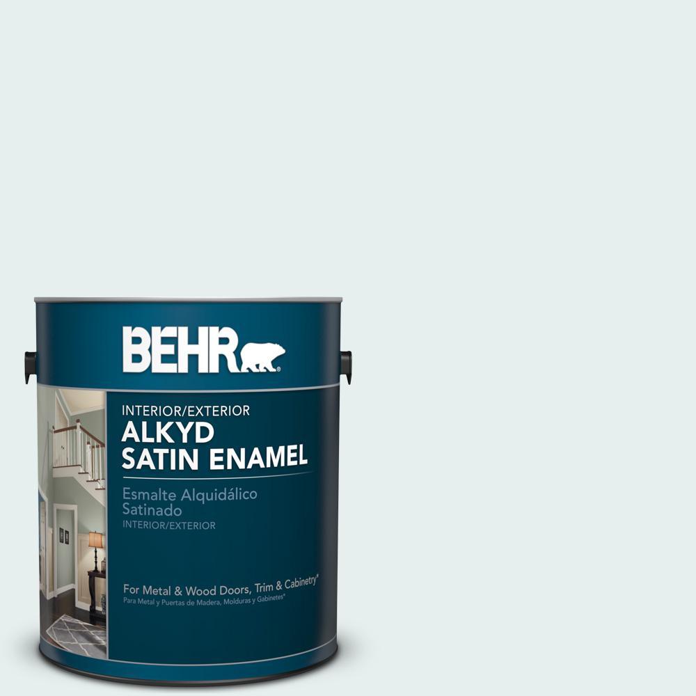 730e 1 Polar White Satin Enamel Alkyd Interior Exterior Paint