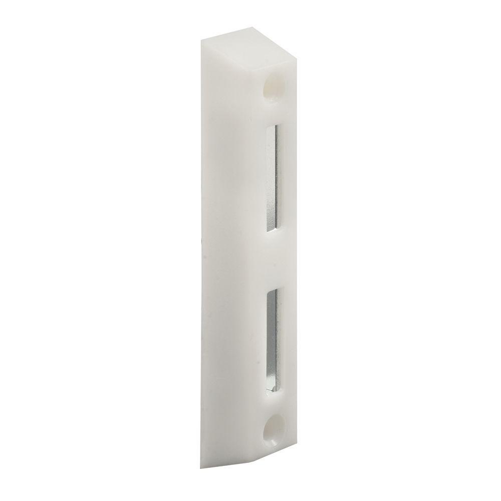 Prime-Line White Face Mount Sliding Door Keeper