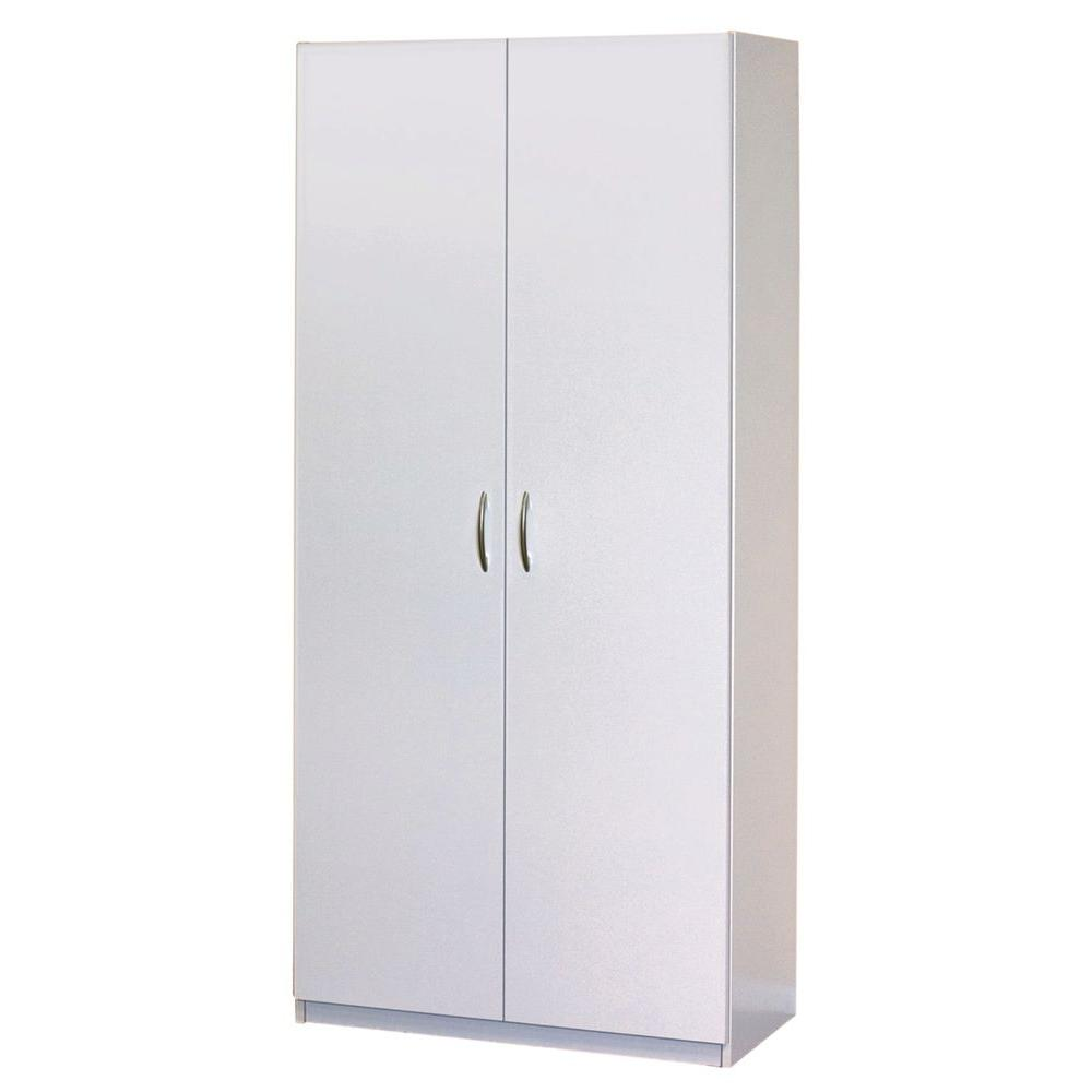 ClosetMaid 3.3 in. D x 3.3 in. W x 3.73 in. H 3-Door Wardrobe Cabinet  Laminate Closet System-1338 - The Home Depot
