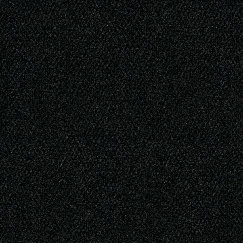 Hobnail Black Texture 18 in. x 18 in. Indoor and Outdoor Carpet Tile (16 Tiles/Case)