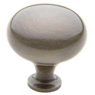 Classic 1-3/4 in. Antique Nickel Round Cabinet Knob