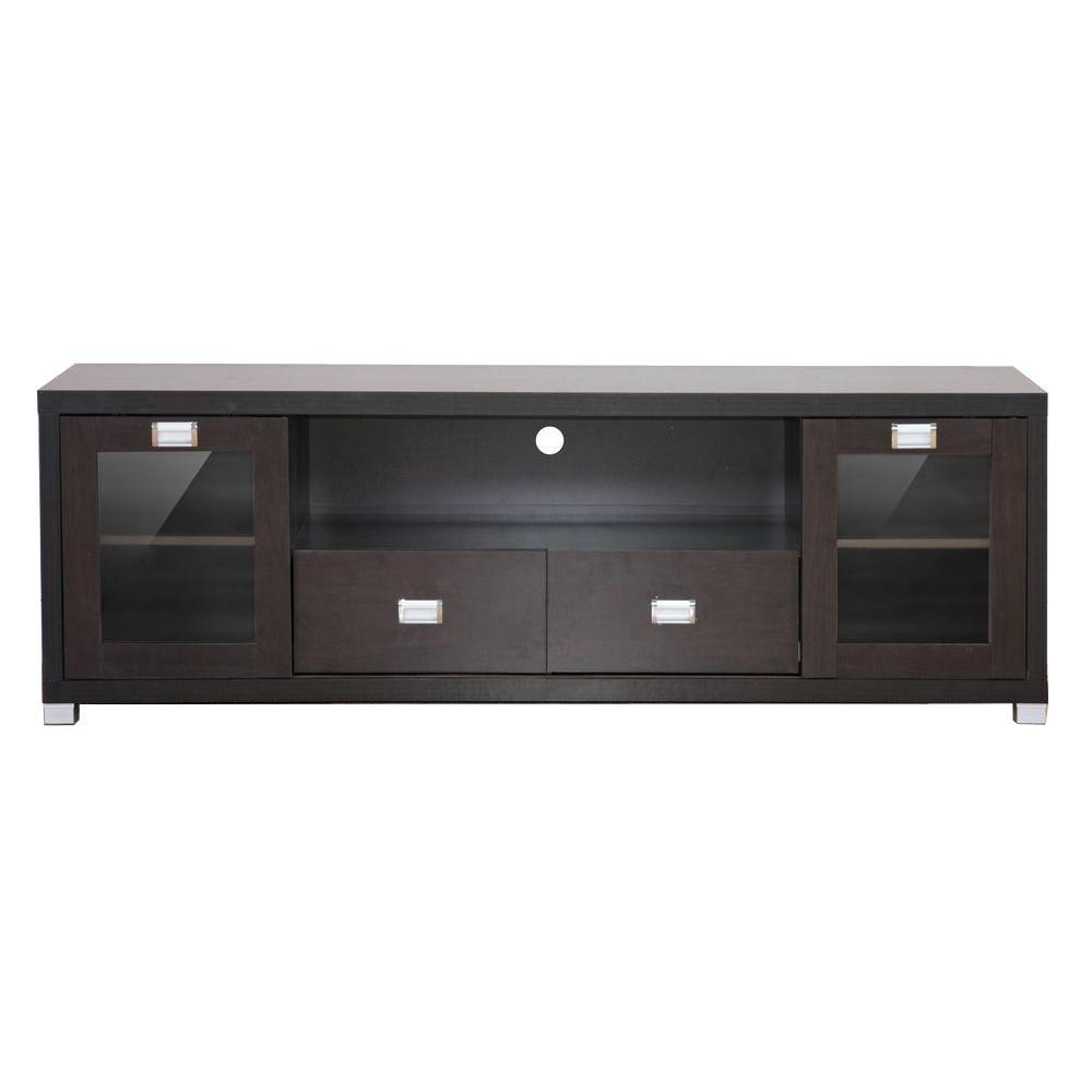 Baxton Studio Gosford Dark Brown Entertainment Center