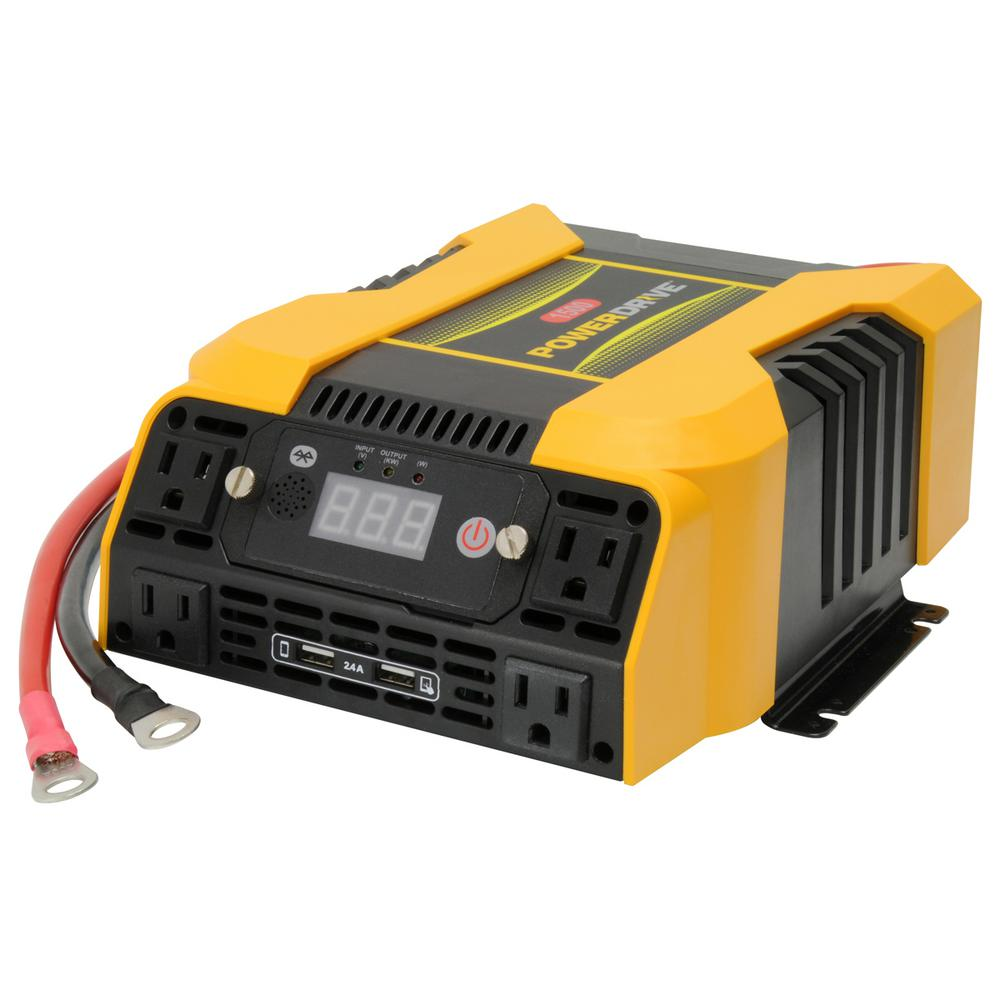 Power Inverter For Truck >> Powerdrive 1500 Watt Power Inverter With 4 Ac 2 Usb App With
