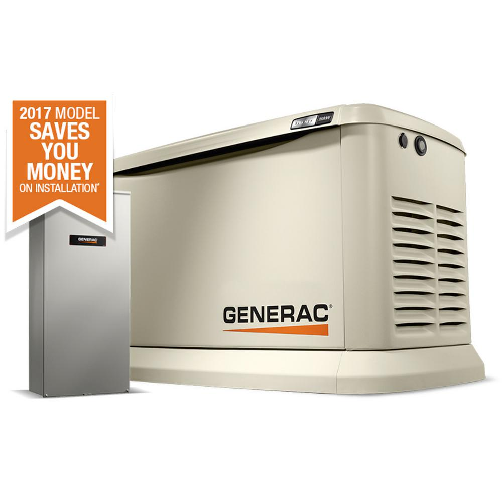 Generac Synergy 20,000-Watt Air Cooled Variable Speed Standby Generator with 200 Amp Automatic Transfer Switch