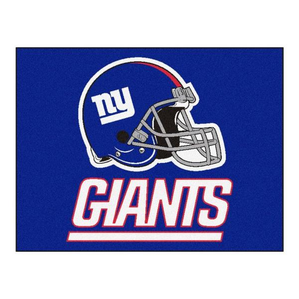 NFL New York Giants Blue 3 ft. x 4 ft. Indoor All Star Area Rug