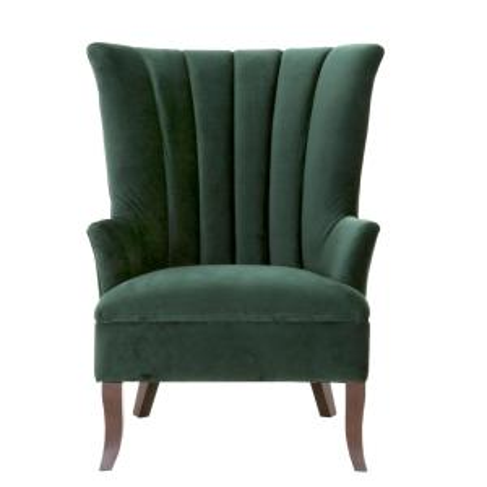 Carlotta Emerald Velvet Club Chair