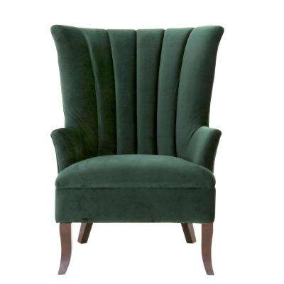 Carlotta Emerald Velvet Club Chair