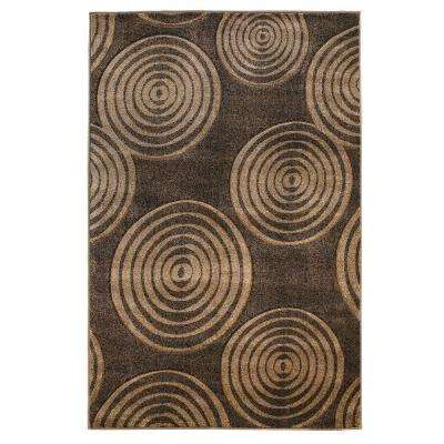 Milan Collection Brown and Beige 8 ft. x 10 ft. Indoor Area Rug