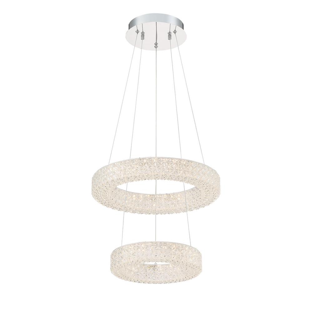 Good Lumens by Madison Avenue Good Lumens by Madison Avenue 150-Watt Equivalence Integrated LED Chrome Pendant