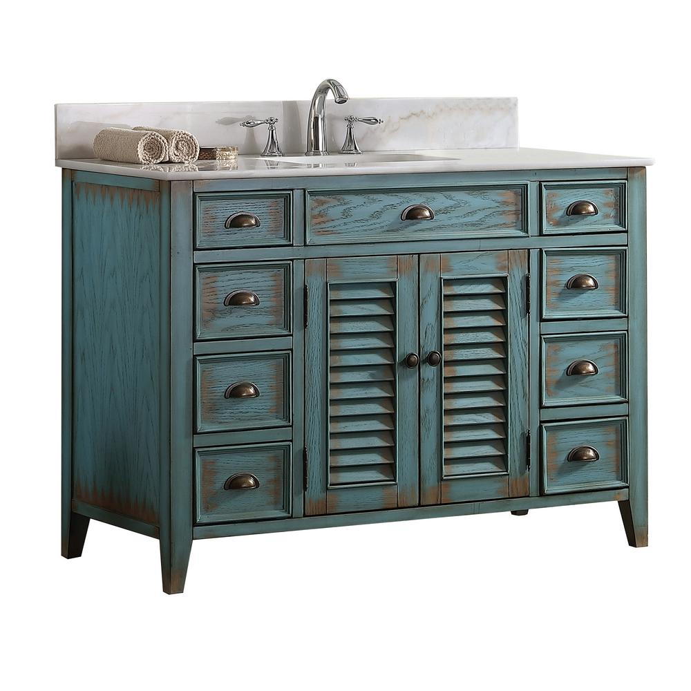 Palm Beach 46 5 In W X 21 75 In D Vanity In Distressed