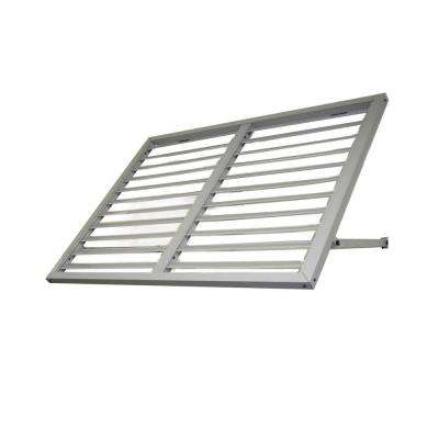 Awntech's 5 ft. Bahama Metal Shutter Awnings (68 in. W x 24 in. H x 36 in. D) in Dove Gray