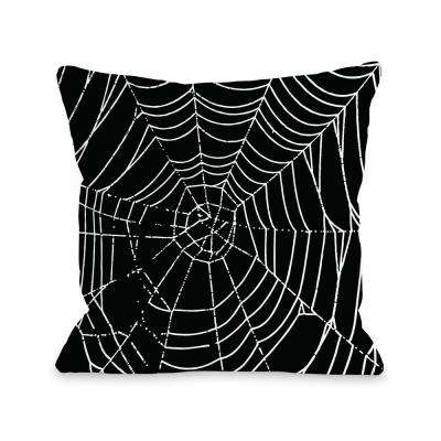 All Over Spider Webs 16 in. x 16 in. Decorative Pillow