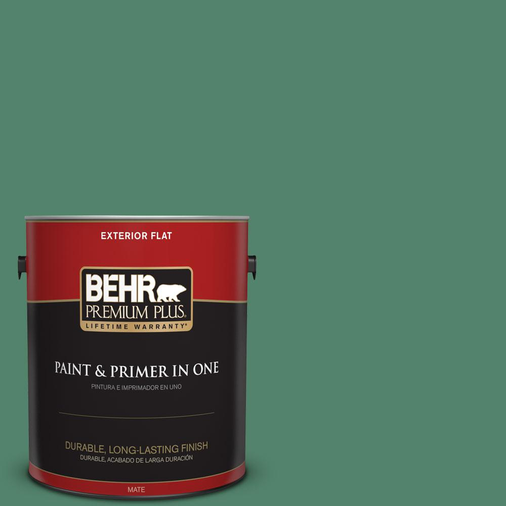 1-gal. #M420-6 Tournament Field Flat Exterior Paint