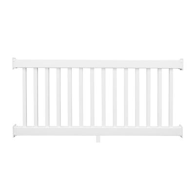 Naples 3 ft. H x 8 ft. W White Vinyl Railing Kit