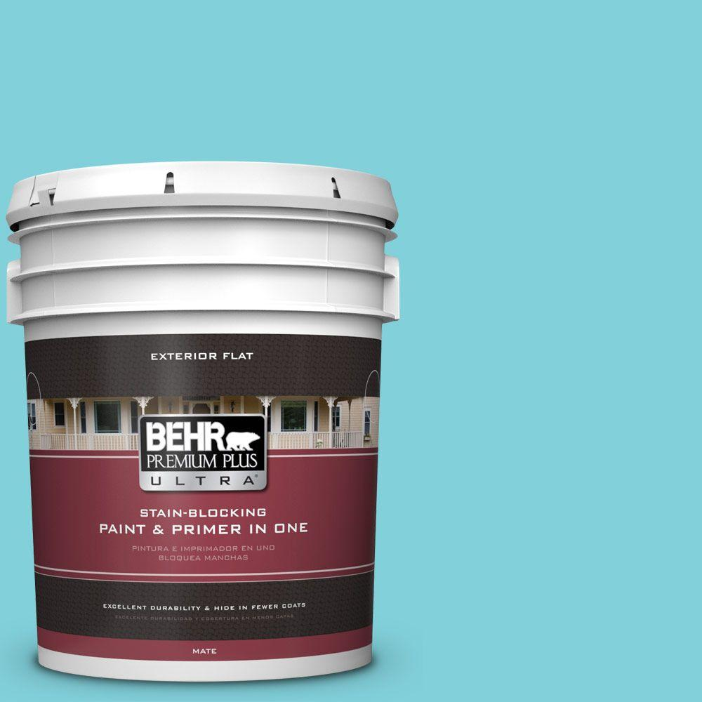 5-gal. #P470-3 Sea of Tranquility Flat Exterior Paint
