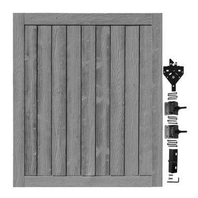 5 ft. W x 6 ft. H Ashland Nantucket Gray Composite Privacy Fence Gate
