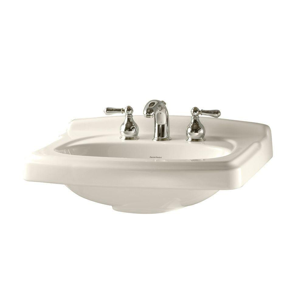 American Standard Portsmouth 24.375 in. Pedestal Sink Basin in Linen