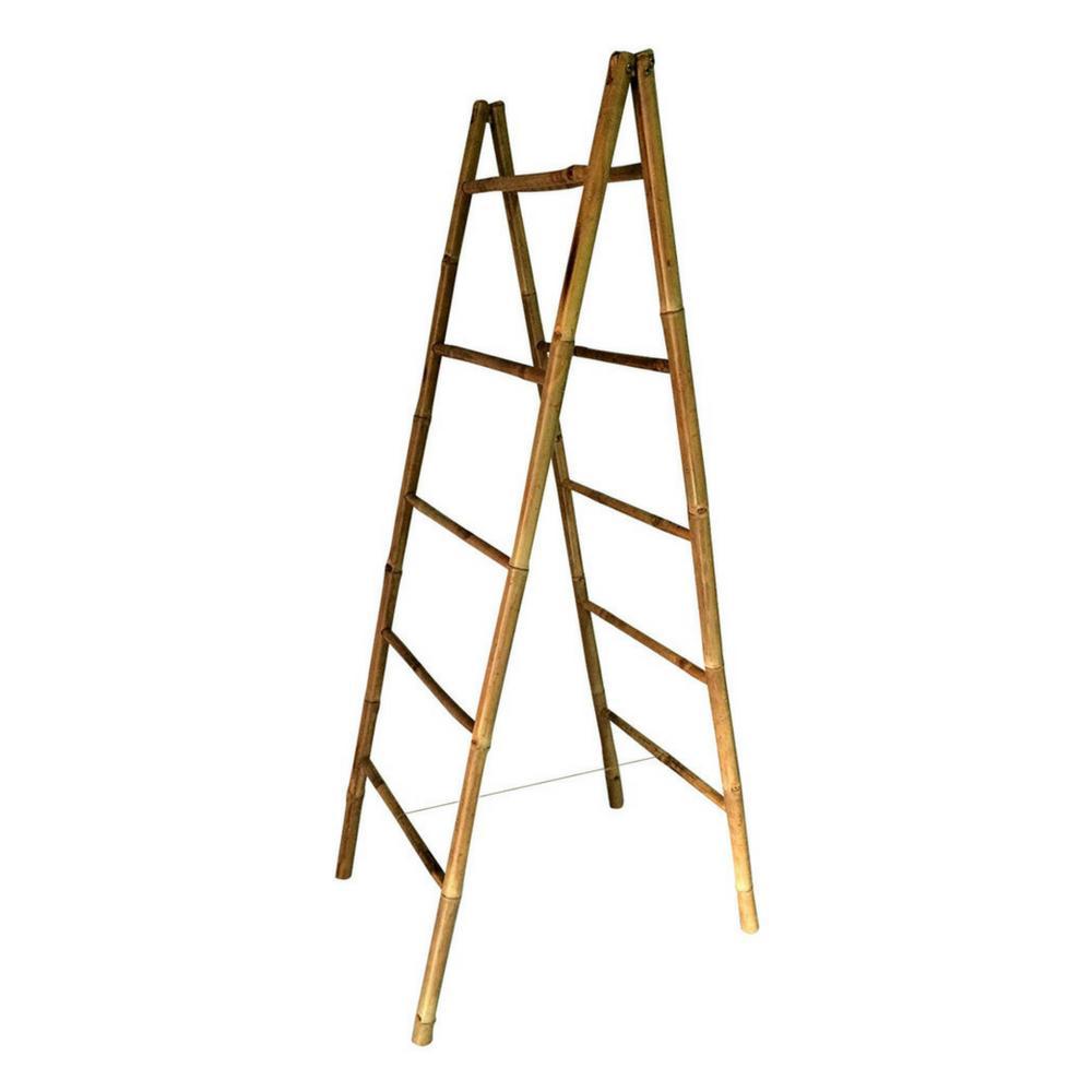 5 ft. Folding Double Bamboo Ladder Rack