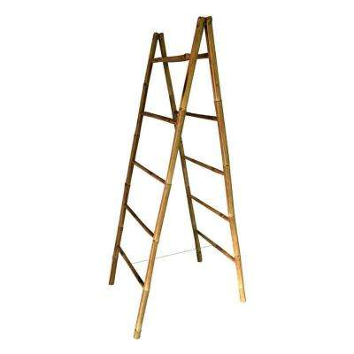 5 ft. Folding Double Bamboo Ladder Rack